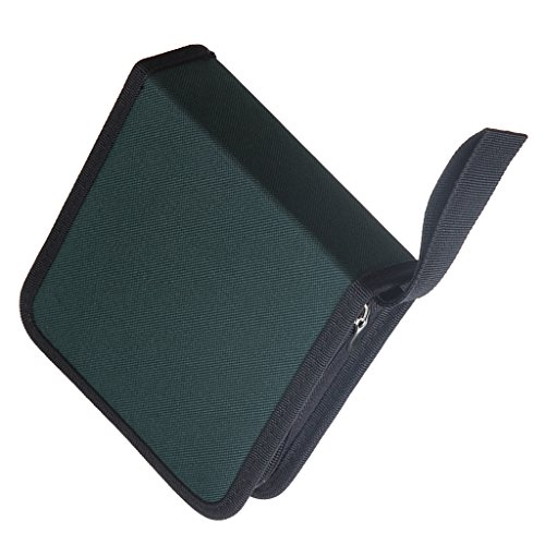 Segolike Nylon CD/DVD 40 Capacity Case, Heavy Duty CD Wallet Disc Holder Storage Box Bag for Car, Home, Office or Travel Use Green  available at amazon for Rs.220