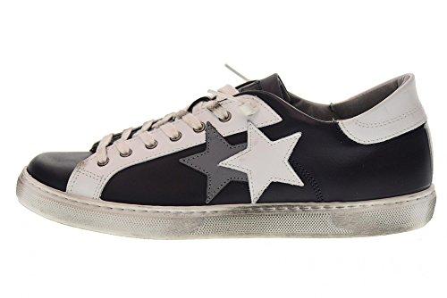 2 STAR scarpe uomo sneakers basse 2SU 1603 BLU BIANCO Blu Bianco