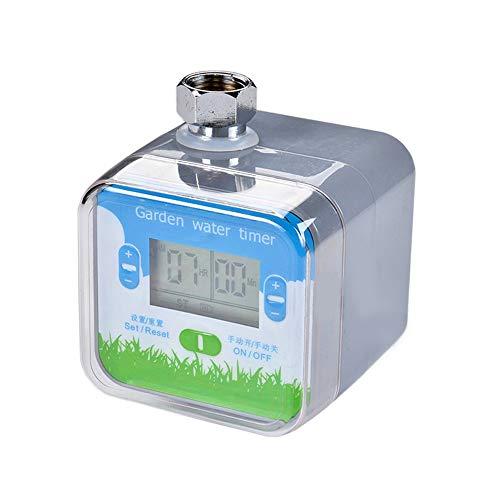 ZYYBRE Timer BewäSserungssteuerung, BewäSserungsregler FüR Digitales Magnetventil Mit LCD-Anzeige, Wasserdichter Programmierbarer Schlauch-Wasserhahn-Timer -