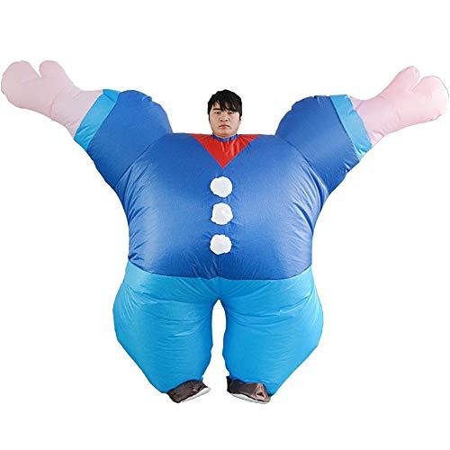 (Backbuy Halloween Kostüm Party Kostüm Bühnenshow Kostüm Erwachsene Lustige Popeye Aufblasbare Kleidung)