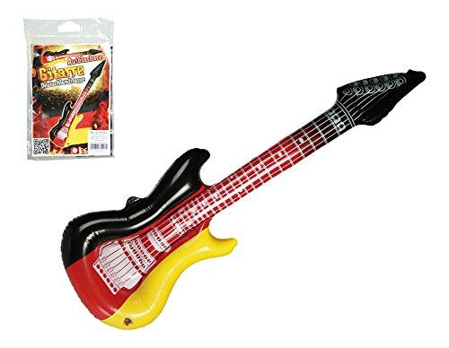 Palleon - Juego de 6 Guitarras hinchables con diseño de la Bandera de Alemania, 100 cm