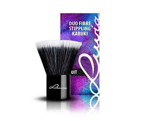 Luvia Cosmetics – La Nuit – VI – Duo Fibre Stippling Kabuki – Make Up Kosmetikpinsel Kabuki...
