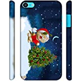 Casotec Christmas Cat Designer 3D Printed Hard Back Case Cover for Apple iPod Touch 6th Generation