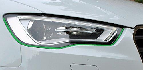 Devil Teufel Scheinwerfer Aufkleber Stripes Eye in grün, passend für Ihr Fahrzeug (Grünen Streifen Spider)