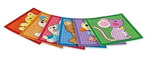 Play maíz 160201-Card Set Mosaic Little Friends, para Manualidades