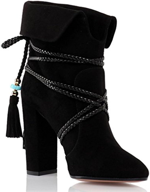 PP Chaussure étanche pour Femmes Chaussures Hautes Bohésiens d'automne d'automne d'automne Hiver Bottes de Travail Bottines en Daim...B07H33STNTParent a12381
