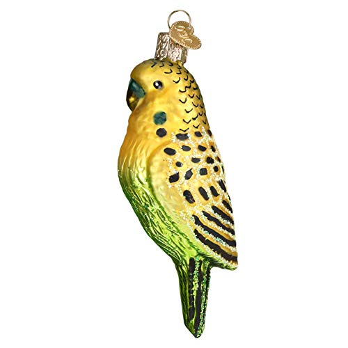 Old World Christmas Miniature Parakeet Glass Tree Ornament 16123 Free Box New (Persona 3 Figur Kostüm)