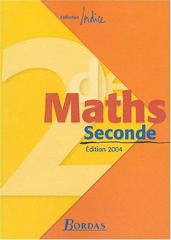 Indice : Maths, 2de (Manuel)