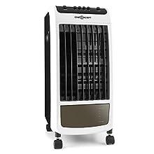 Condizionatore-ventilatore con depuratore d'aria ed umidificatore e con tre livelli di potenza, smuove fino a 400m³ di aria in un'ora. Climatizzatore rispettoso dell'ambiente grazie al suo sistema di evaporazione dell'acqua e con risparmio energetico...