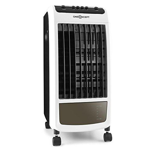 oneConcept Carribean Blue Climatizador, humidificador, ventilador con ruedas • 70W bajo consumo...