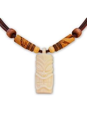 HANA LIMA ® Surferkette Tiki Tikikette Neuseeland Lederkette Surferhalskette