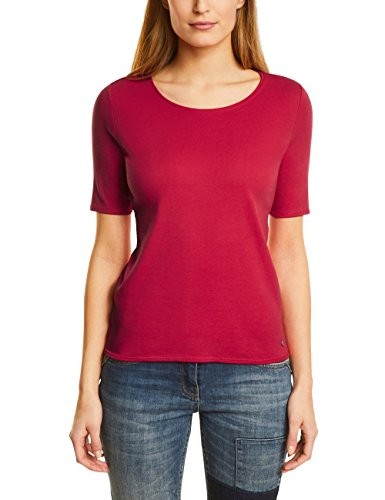 Cecil Damen T-Shirt 311780 Lena, Rot (Salsa Red 11198), Medium (Salsa-t-shirt)