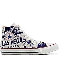 Converse All Star chaussures coutume (produit artisanal) Las Vegas