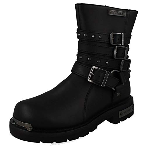Harley Davidson Womens Eddington Black Leather Boots 41 EU (Damen Davidson Harley Stiefel)
