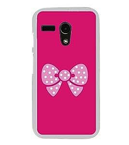 Pink Bow 2D Hard Polycarbonate Designer Back Case Cover for Motorola Moto G :: Motorola Moto G (1St Gen)