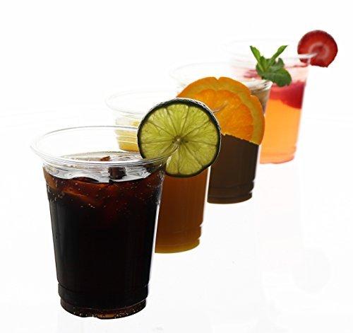 ((100Zählen) 12Oz Einweg Klar Trinkbecher aus Kunststoff–BPA-frei Bulk Cup Set)