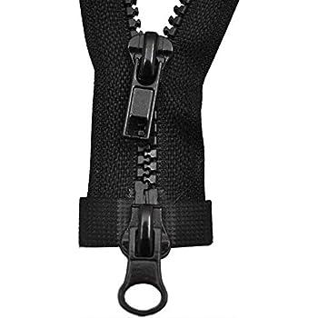 Arbeitsjacken Reissverschluß schwarz metall teilbar 8mm breite Zähne Jacken