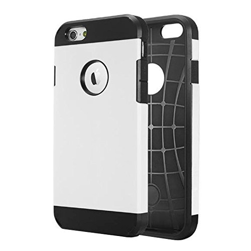 YAN Für iPhone 6 / 6s, Hybrid PC + TPU Tough Armor Farbe Hard Case Cover YAN ( Color : Gold ) White