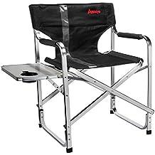 anmiya resistente portátil y plegable silla de Director con mesa auxiliar