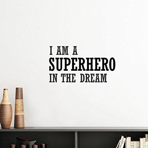 (DIYthinker Ich bin ein Superheld Im Traum Silhouette entfernbarer Wand-Aufkleber-Kunst-Abziehbilder Wand-DIY Tapete Für Zimmer Aufkleber 40cm Gelb)