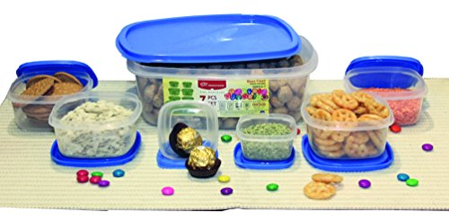Princeware SF Package Container Set, 7-Pieces, Blue