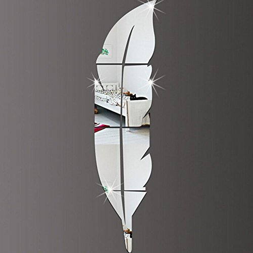 amokeyeric moderno diy pluma pegatina de pared espejo acrlico fashion d casa de vinilo saln murales