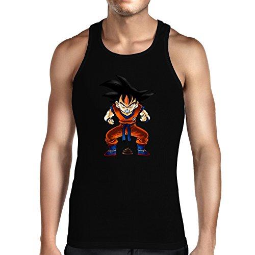 Okiwoki Débardeur Noir Dragon Ball Z - DBZ parodique Sangoku : Super Caca - Vol.1 (Parodie Dragon Ball Z - DBZ)