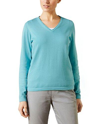 2230 Mint (Walbusch Damen Pullover Soft Cotton 100% Baumwolle einfarbig Mint 42)