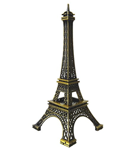 Toperkin 5.9Inch Eiffel Tower Decor Paris Souvenirs Metal Statue TPLP-008