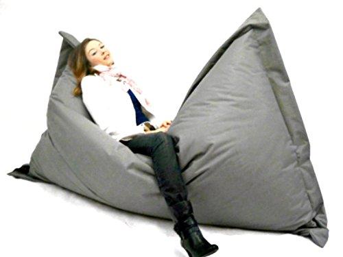Sitzsack XXXL 180x145cm - Farbe Hellgrau Sitzbag - In & Outdoor - Mit Füllung Styropor - Sitzsäcke - Bodenkissen Sofa Kind Hocker Möbel Bag Sitzkissen Kissen Sessel
