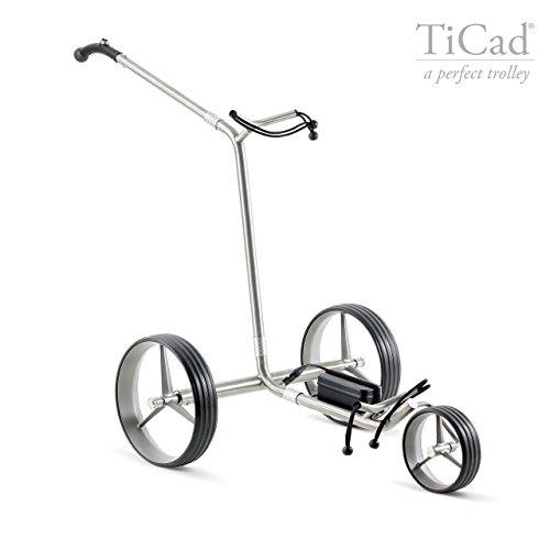 TiCad Goldfinger - 3-rädriger Elektrotrolley aus Titan (Steckprinzip) (Titan-Räder, Drehgriffsteuerung)