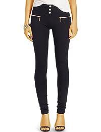 Bestyledberlin Damen Hose, Basic Skinny Fit Stoffhose, Elegante Leggings j56f