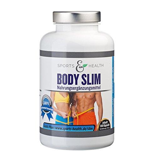 Body Slim - endlich schlank - 180 Kapseln - Appetitzügler - abnehmen mit Tabletten - Abnehmen mit Glucomannan und Acai - Erfolg Belegt - Abnehmpillen - Made in Germany - Appetithemmer