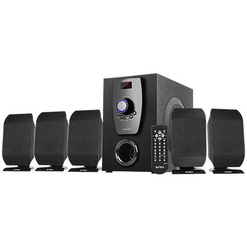 Intex IT-650 FMU BT Computer 5.1 Multimedia Speakers With Remote Control (Radio, Bluetooth, USB, AUX)