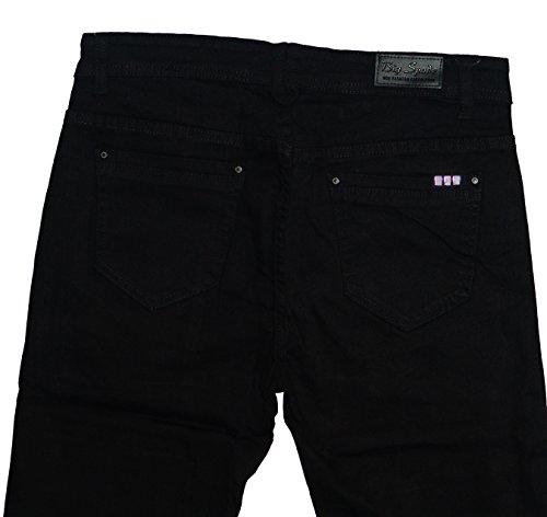 BigSpade Damen Stretch Jeans Hose schwarz (6913)