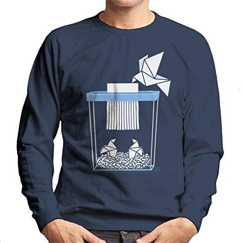 Cloud City 7 Paper Mom Origami Men's Sweatshirt