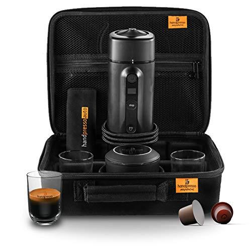Handpresso 48310auto set Cofanetto macchina caffè espresso Capsule per auto, 120W, 0,05liters, Nero