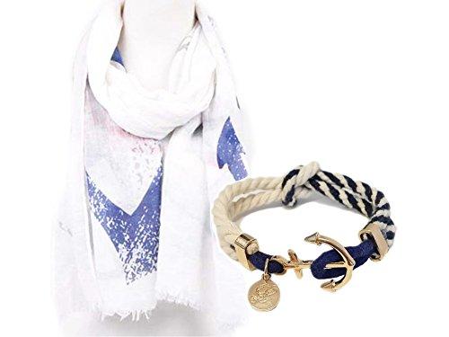 la-loria-damen-geschenkset-schal-und-anker-armband-blau-geschenk-set-fur-frauen