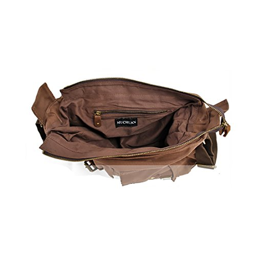 Plover's Bag Herren Damen Leinwand Canvas Tasche Schultertasche Messenger-Bag Umhängetasche grün