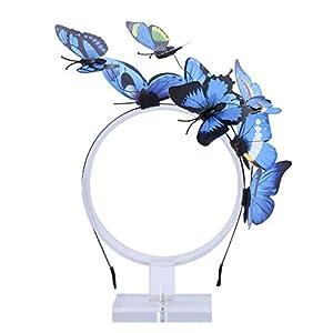 AWAYTR Schmetterlings Stirnband für Damen Mädchen Schmetterlings Haarband Fee Kostüm Kopfschmuck Party Festival schickes Fee Stirnband