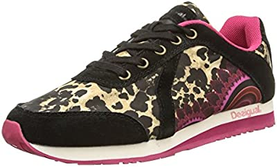 Desigual Shoes Damian 10 - Zapatilla Deportiva de Material sintético Mujer, Color Beige, Talla 36