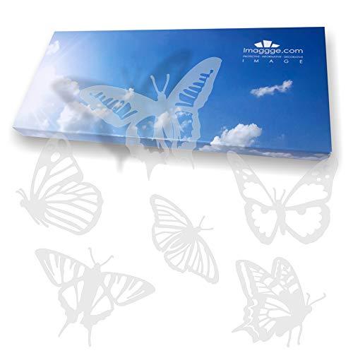 412NYW%2BTixL - imaggge.com - Pegatinas anticolisión para Puertas de Cristal (18 Mariposas detalladas) - Evita los Golpes de pájaros o choques de Personas en los Cristales
