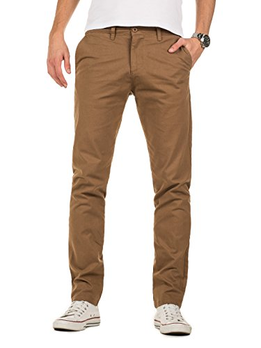 Yazubi Herren Chino Hose, Slim Fit, Modell Kyle, Chinohose by YZB Jeans, Camel (Otter 181018), W32/L34