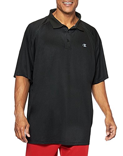 Champion Big Tall Men`s Performance Birdseye Polo, 3XLT, Carmine Red/Black (Red Birdseye-performance-polo)