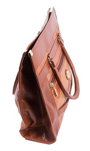 Borsa / Manico / Tote Bag / Patch Shopper Cognac Marrone Cognac