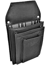 flevado Große Professionelle Taplet iPad mini bis 8 Zoll Gastronomie Kellnertasche Leder schwarz- Wildleder braun