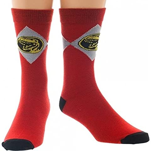 Mighty Morphin Power Rangers Red Crew Calcetines