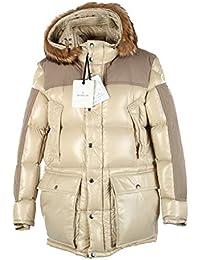 MONCLER CL Beige Frey Down Quilted Jacket Coat Size 4 / L / 52/42