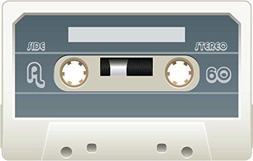 Audio Cassette Side A Stereo White Alta Calidad De Coche De Parachoques Etiqueta Engomada 12 x 10 cm