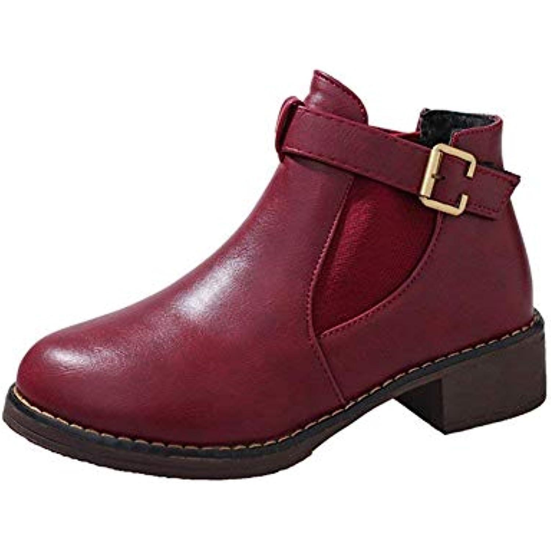 DEED DEED DEED Femmes 'S Bottes Velcro Casual Heel Martin